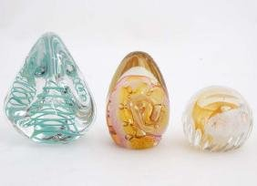 Studio Art Glass : 2 paperweights by Caithness
