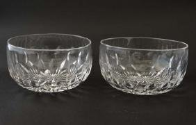 A pair of 19thC cut glass rinsers / finger bowls.