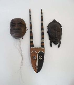Ethnographic Native Tribal : two assorted African wall