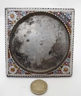 An Italian 19thC Micro mosaic easle / strutt frame