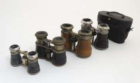 Binoculars : A collection of four pairs of Opera and