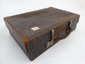 Crocodile skin travelling case  : A 1930's / 40's