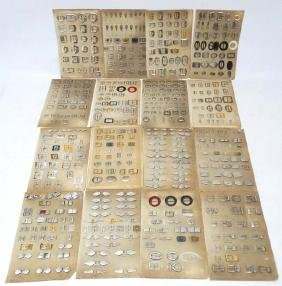 Buckles : 16 Buckle Salesman sample boards with over