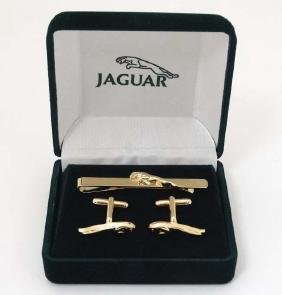 Jaguar ( Cars ) : A cased gold plate matching pair of