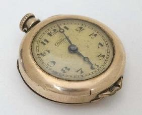 A early gold plate fob watch/ wristwatch conversion : '