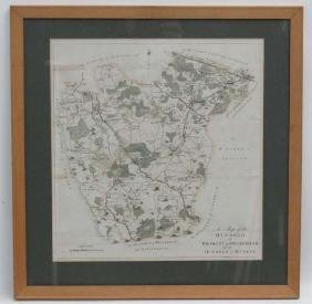Maps: A framed '' Map of the Hundred of Bromley and