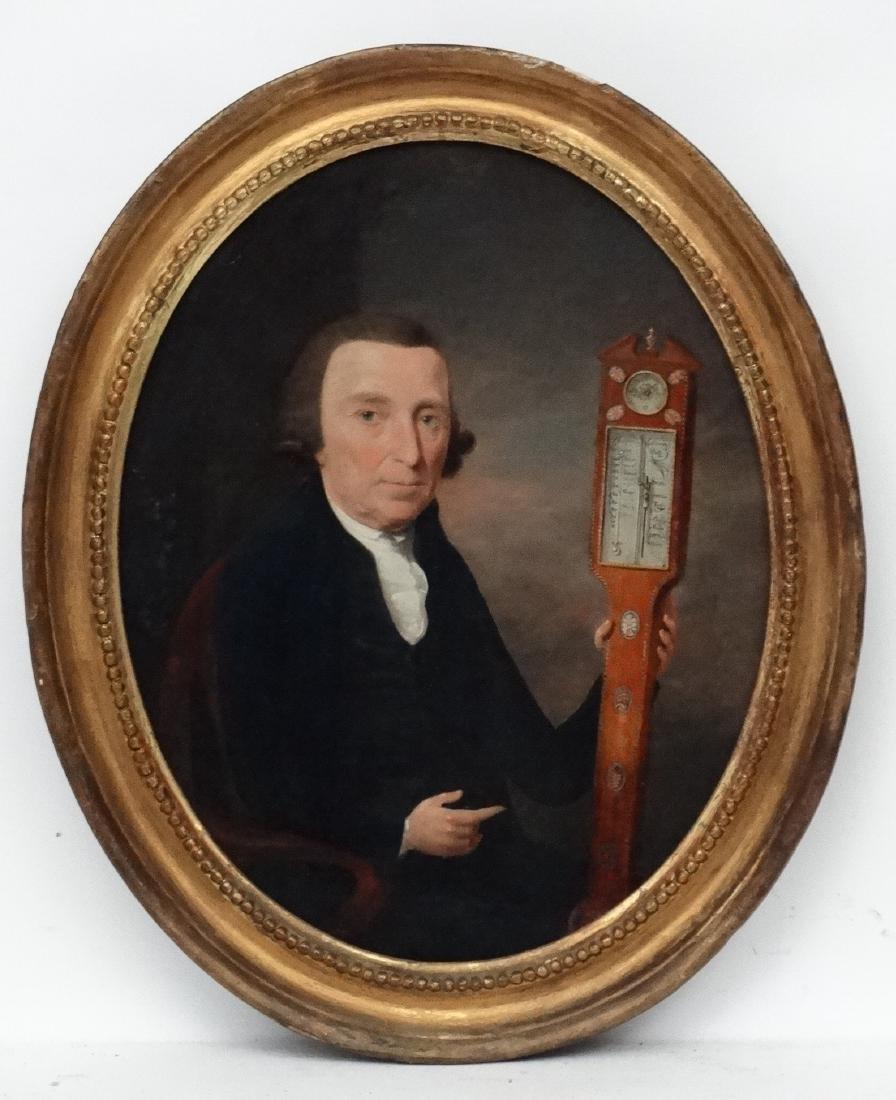 Thomas Hickey (1741-1824) Irish , Oil on oval mahogany