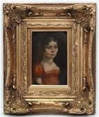 Late 18thC Continental School, Oil on copper, Portrait