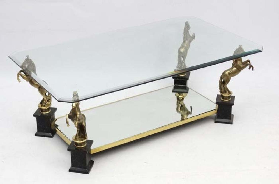 Mid Century : Maison Charles coffee table  with rearing