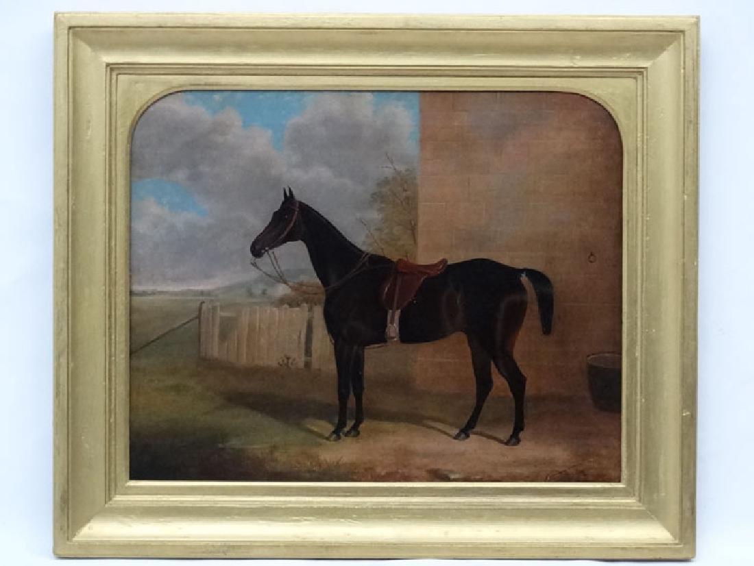 L.....Mid XIX Equine School, Oil on canvas, Portrait of