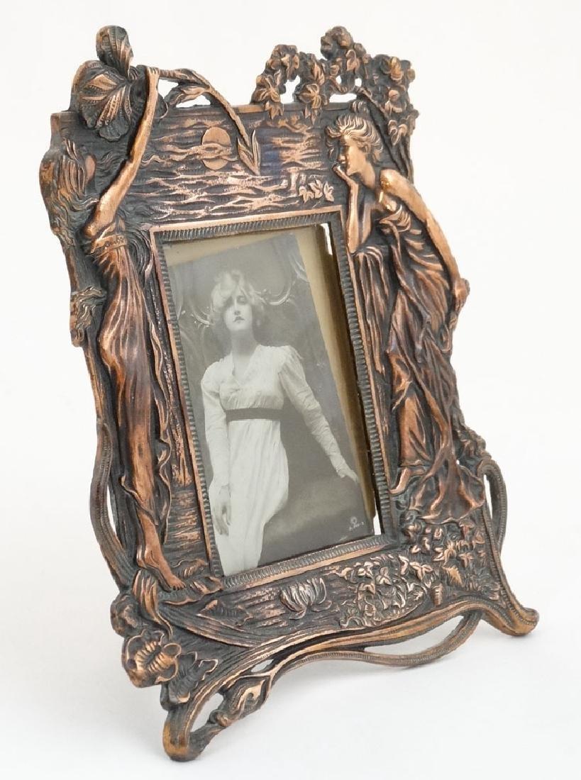 Art Nouveau : a fine photograph frame , easel / strutt