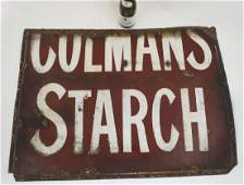 Vitreous Enamel Advertising Sign : A Coleman's Starch