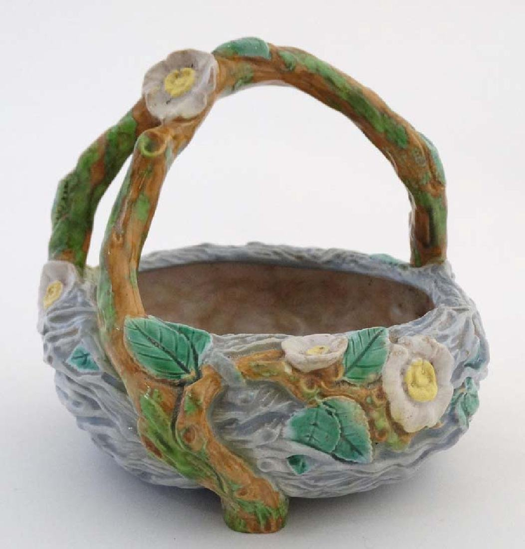 A 19thC Royal Worcester Majolica crab stock handled