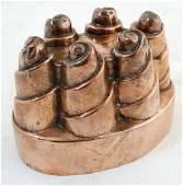 Kitchenalia : A Victorian copper jelly mould 5 1/4''