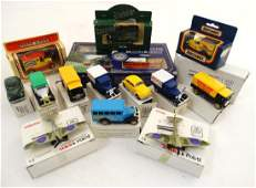 Toys: A collection of approximately 16 model cars to