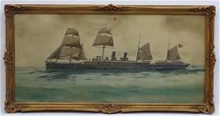 C 1900 Neapolitan School Watercolour and gouache A