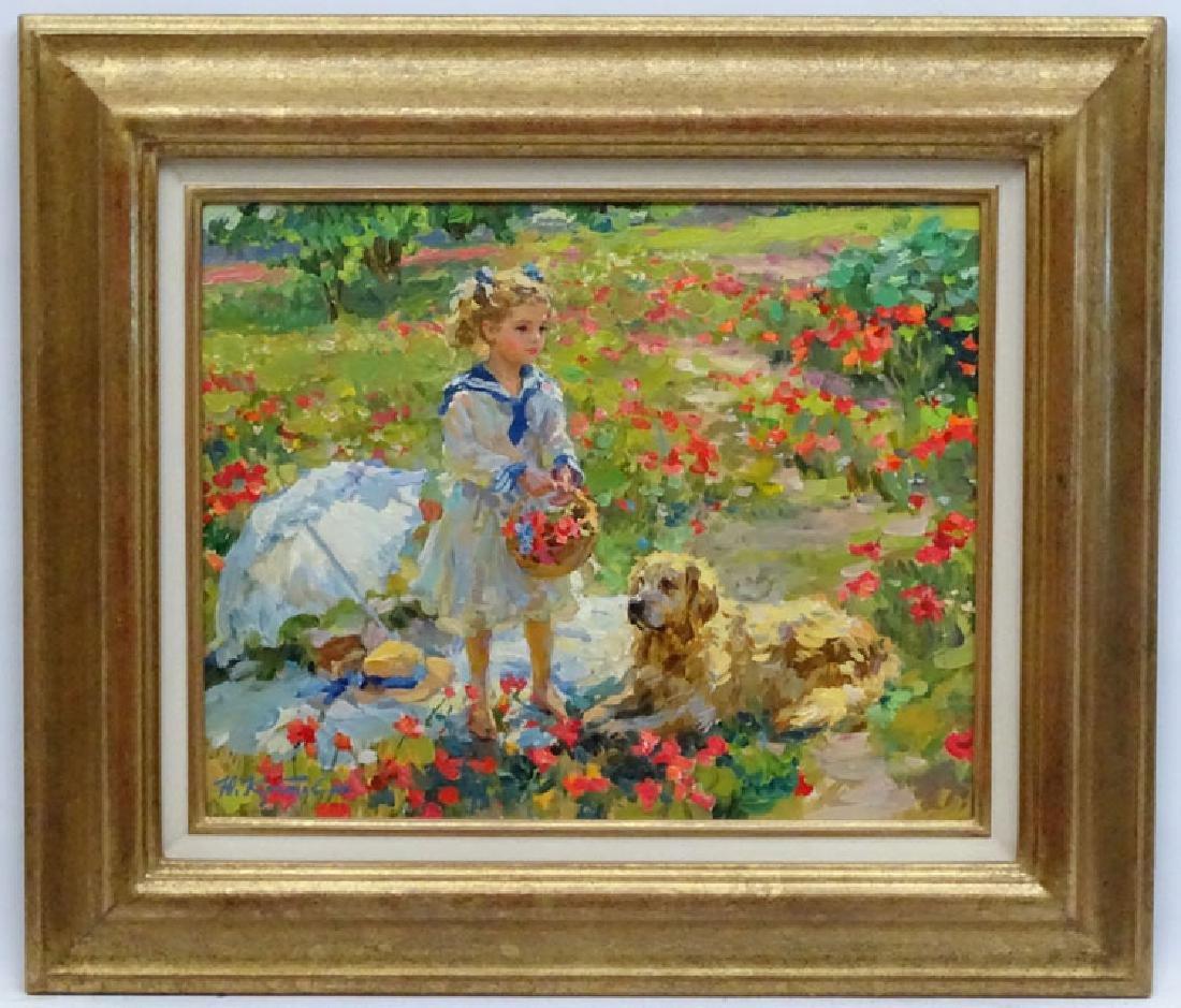 Yuri Krotov (b.1964), Oil on canvas, 'In a field of