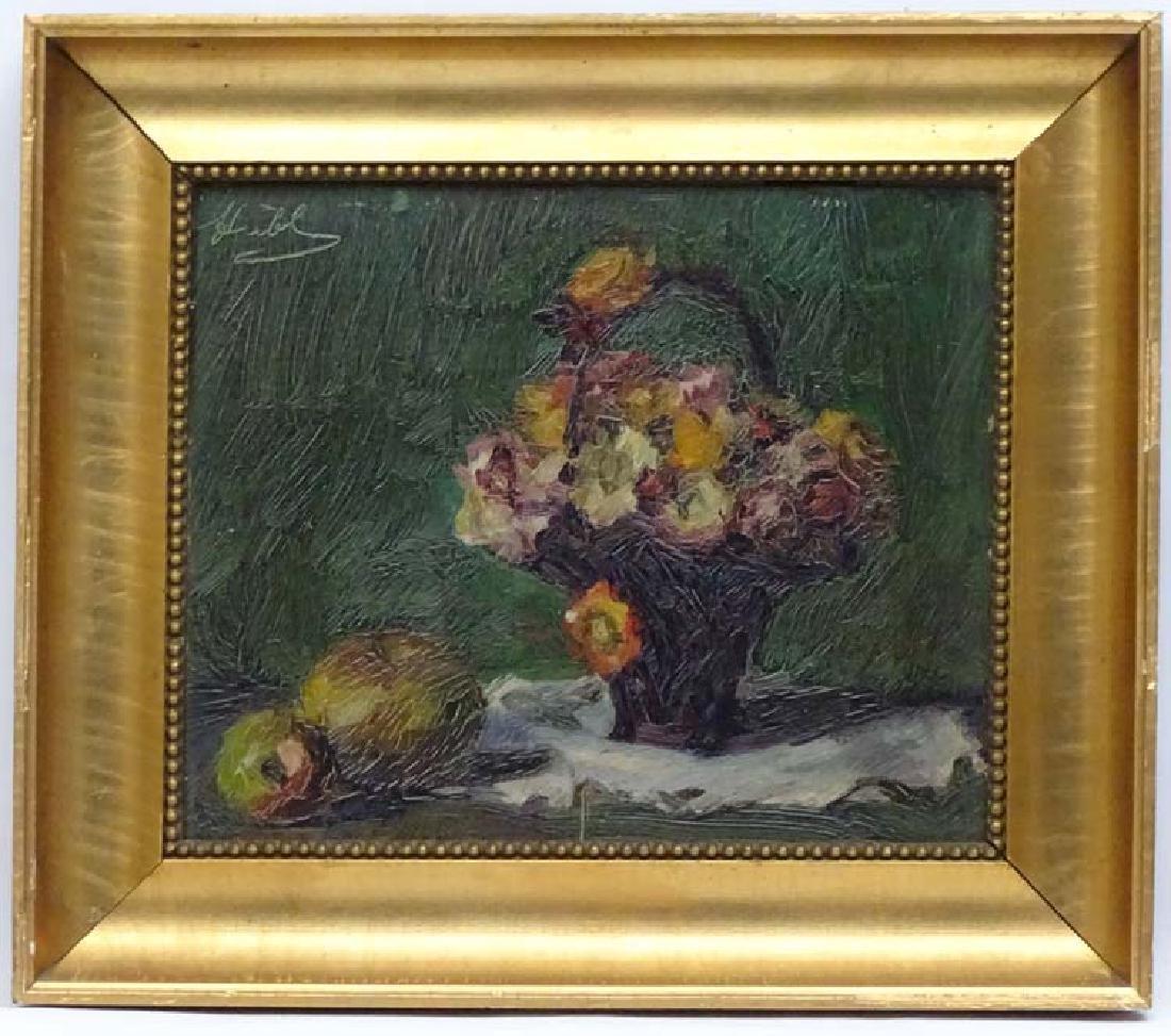 Huebel Bloemarts Early XX Dutch, Oil on panel, Still