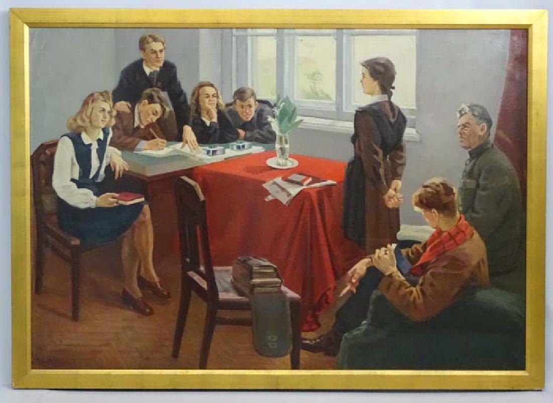 United Soviet States of Russia Propaganda XX, Oil on