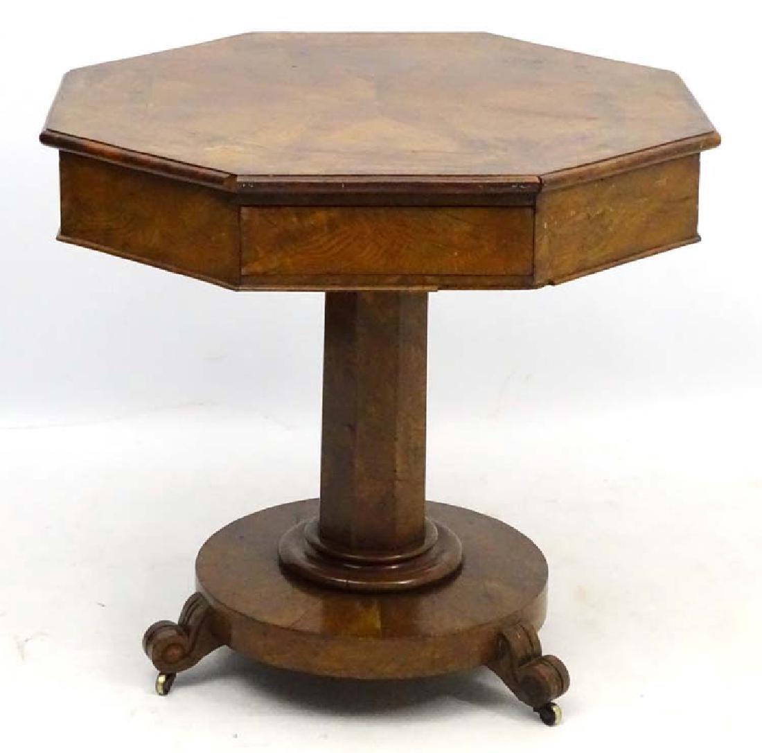 An early 19thC manner of Bullock walnut octagonal