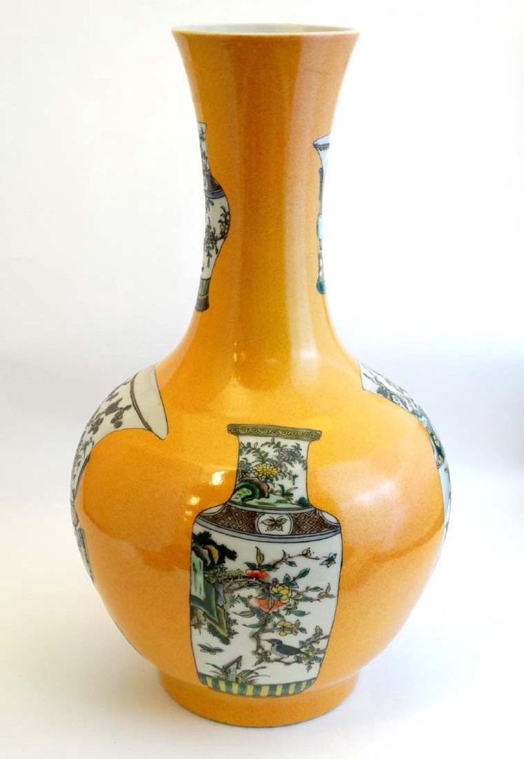 A large Chinese bottle neck vase with flared rim , the - 5