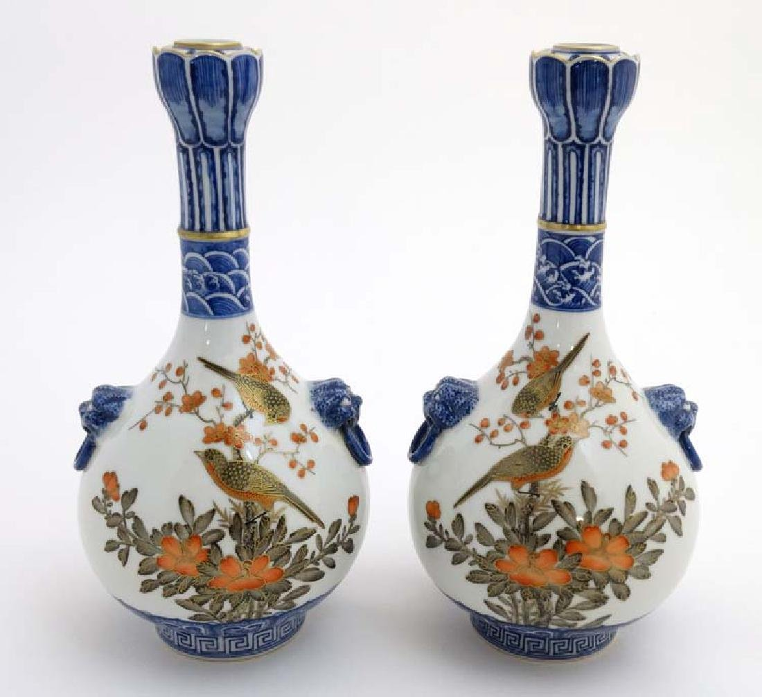 A pair of Chinese twin handled Sauntouping (garlic