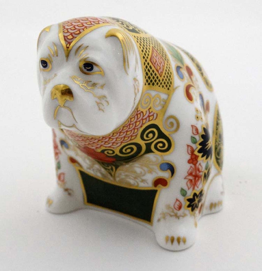 Two Royal Crown Derby paperweights. One formed as a Pig - 6