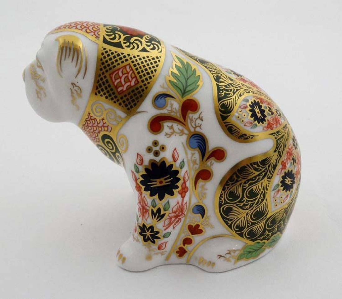 Two Royal Crown Derby paperweights. One formed as a Pig - 7