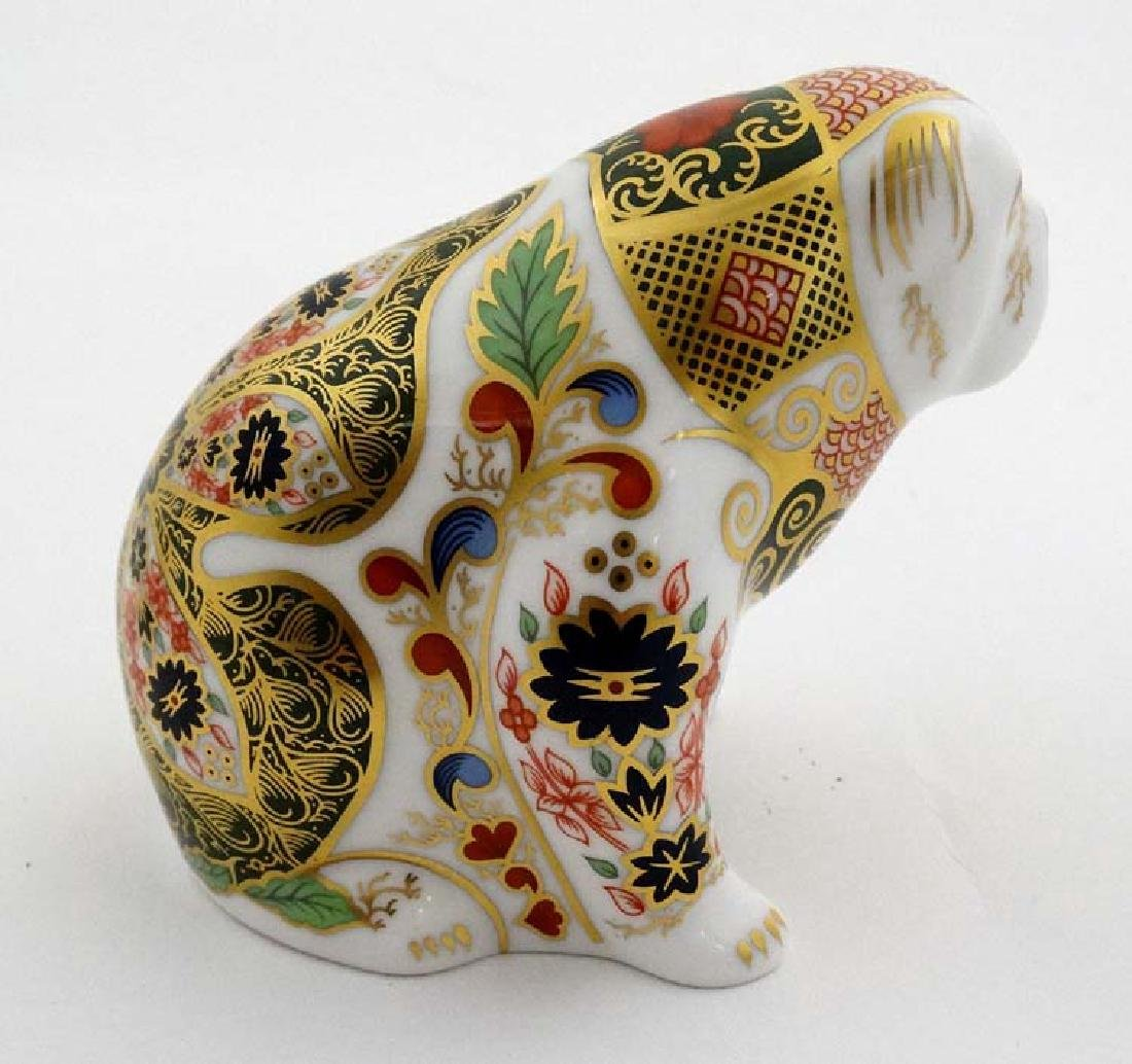 Two Royal Crown Derby paperweights. One formed as a Pig - 8