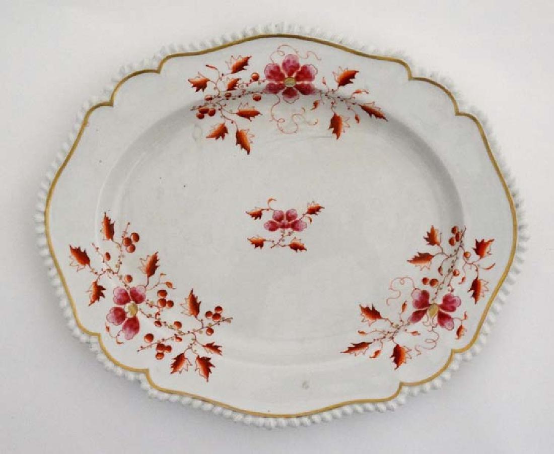 An 1813-1840 Worcester Flight, Barr & Barr meat plate ,