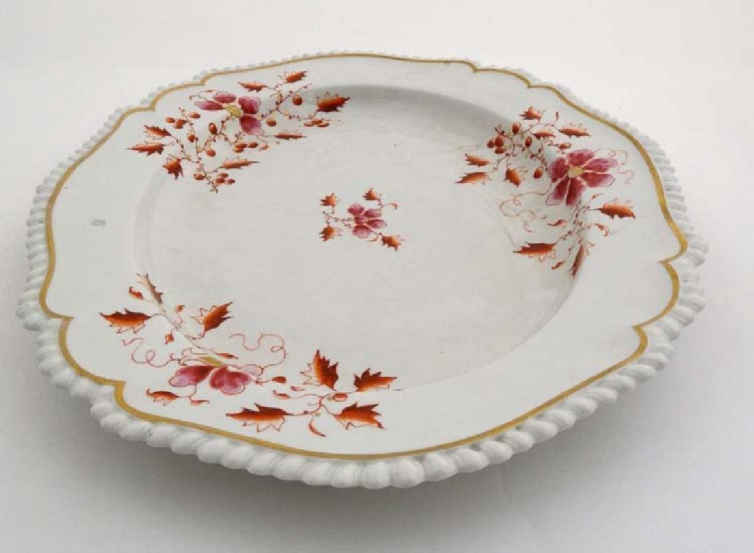 An 1813-1840 Worcester Flight, Barr & Barr meat plate , - 2