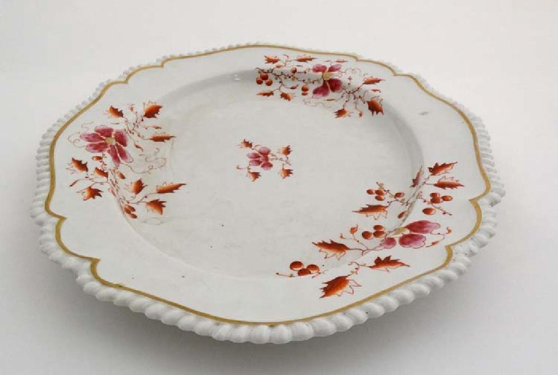 An 1813-1840 Worcester Flight, Barr & Barr meat plate , - 4