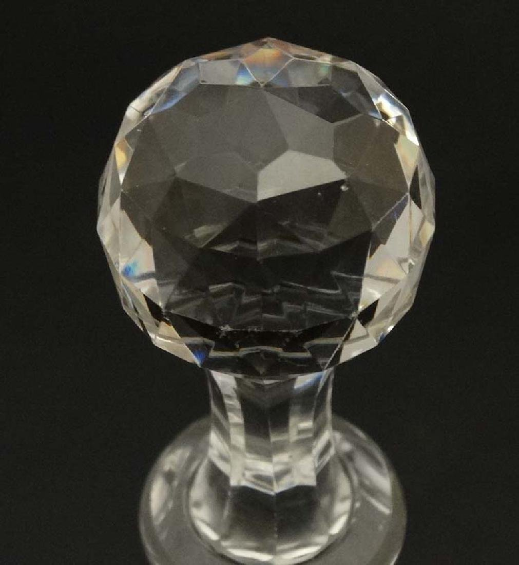 A 19thC glass decanter with facet cut decoration to the - 4