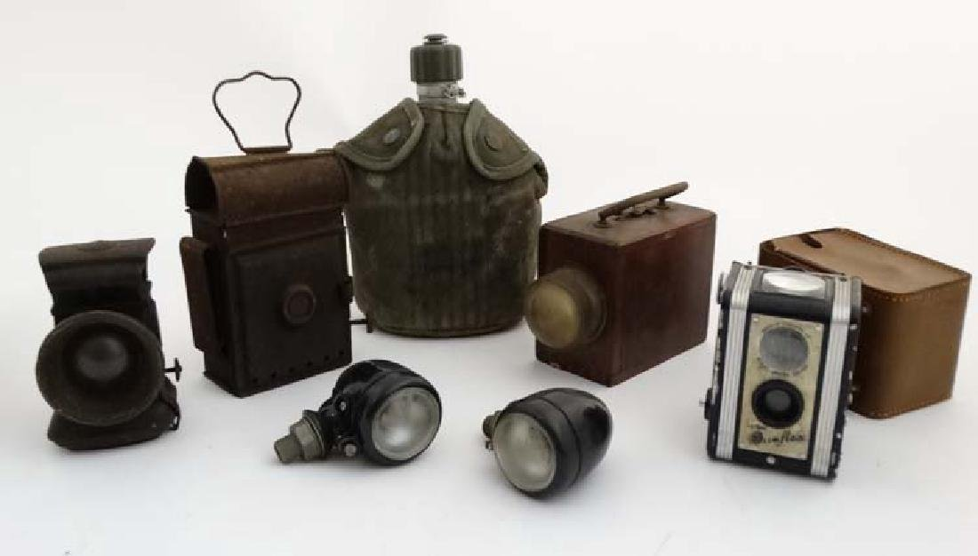 Assorted items to include a US Army - issue water