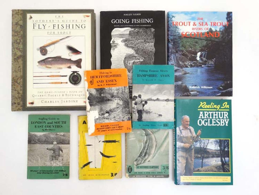 Fishing Books: A collection of 9 books on fishing to