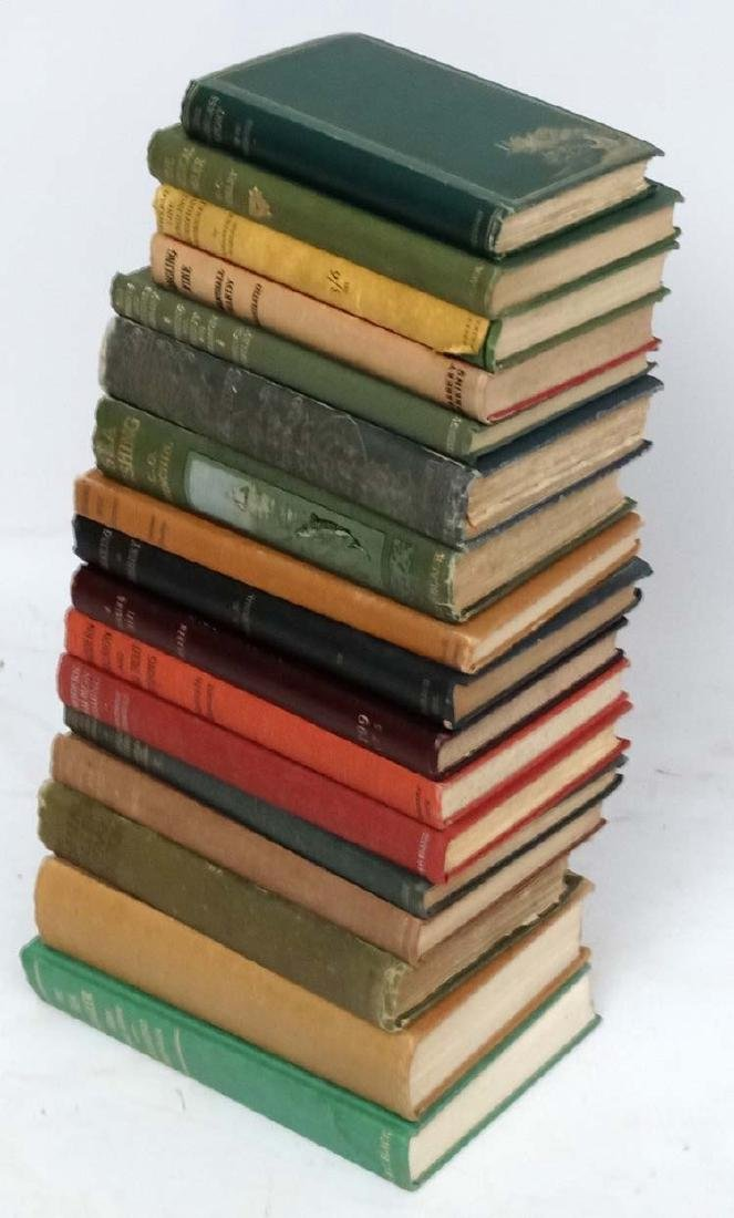 Fishing books: A box of approximately 17 fishing books