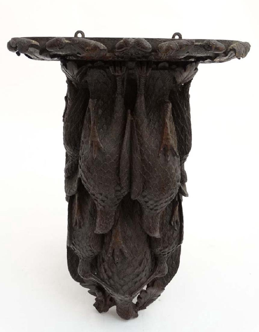Black Forest : a 19 th C well carved wooden clock - 3