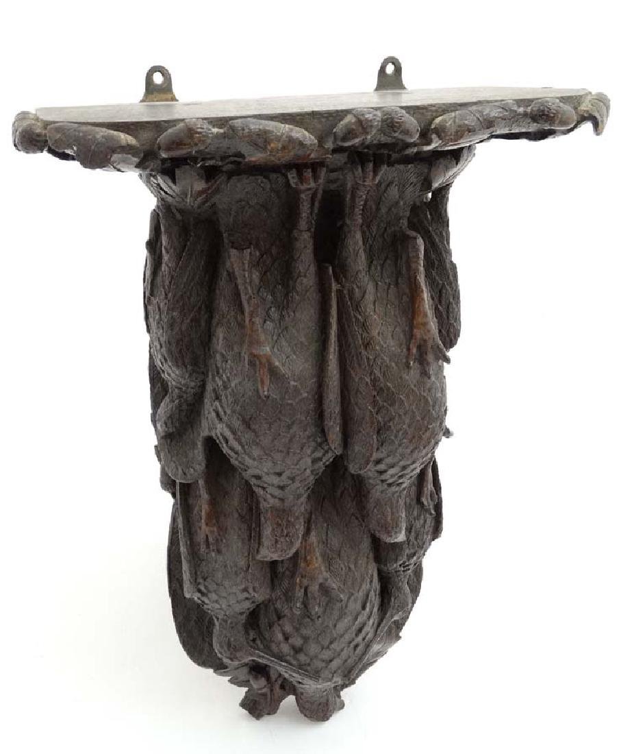 Black Forest : a 19 th C well carved wooden clock - 6