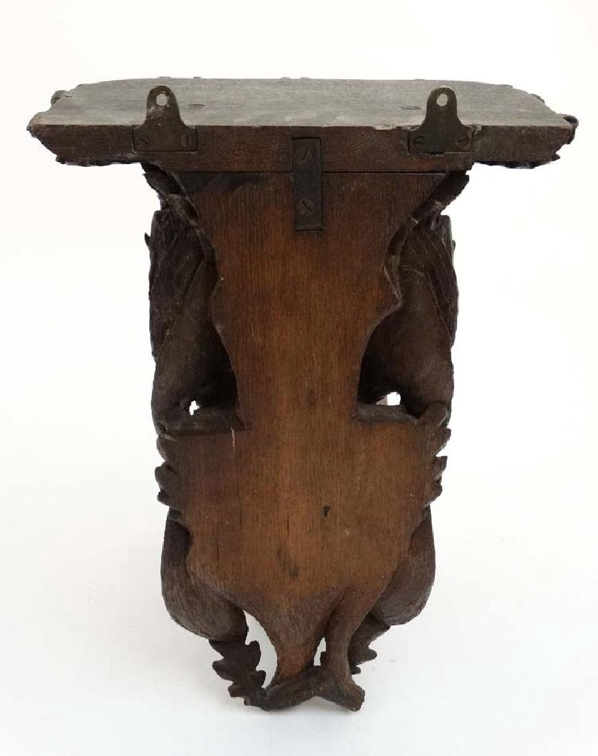 Black Forest : a 19 th C well carved wooden clock - 7