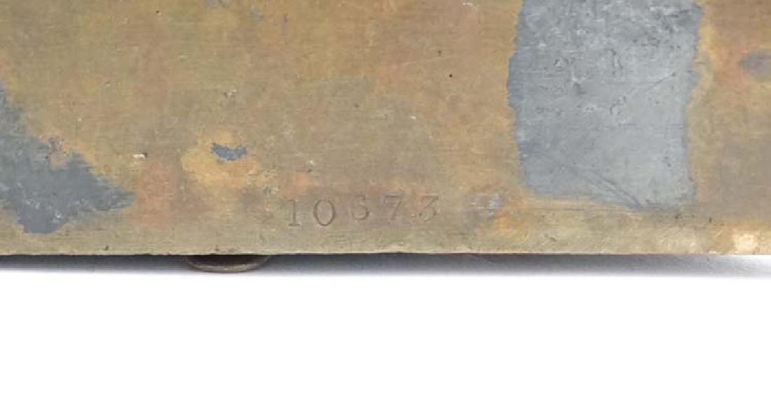 Late Victorian cast brass dog door stop / door porter - 2