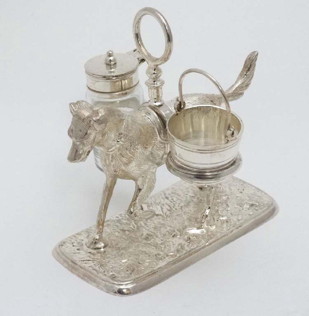 A 21stC novelty silver plate cruet stand formed as a - 3