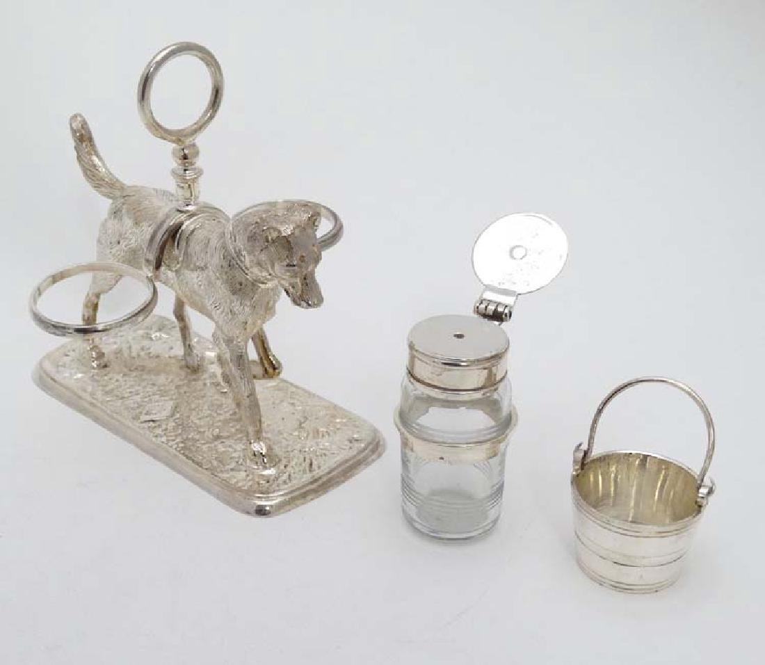 A 21stC novelty silver plate cruet stand formed as a - 7