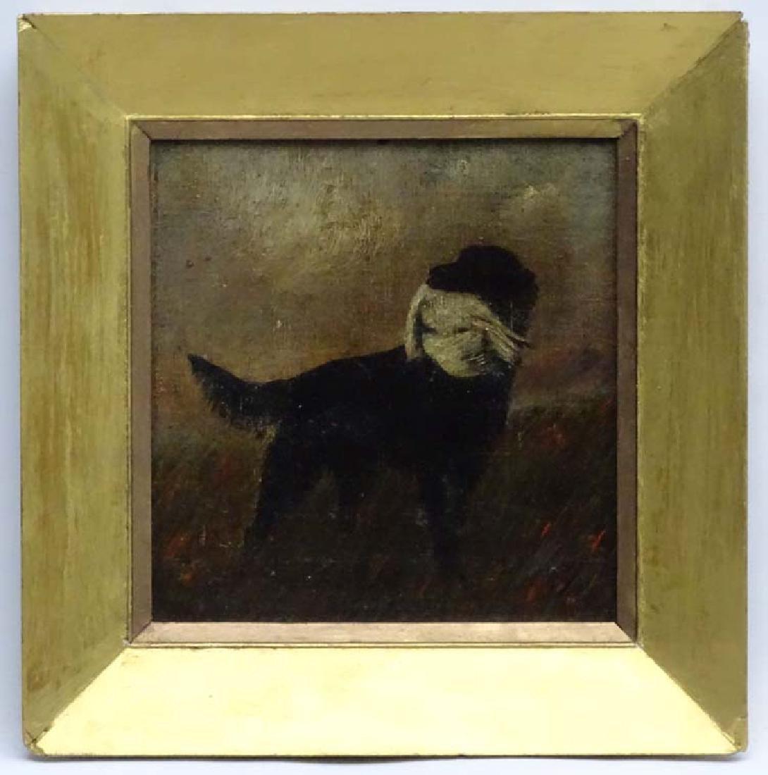W Sharrocks  1922 Canine School, Oil on canvas board,