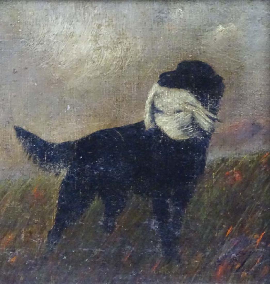 W Sharrocks  1922 Canine School, Oil on canvas board, - 3