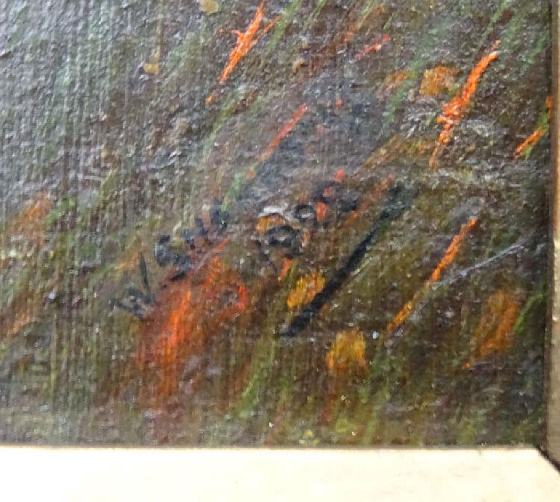 W Sharrocks  1922 Canine School, Oil on canvas board, - 4