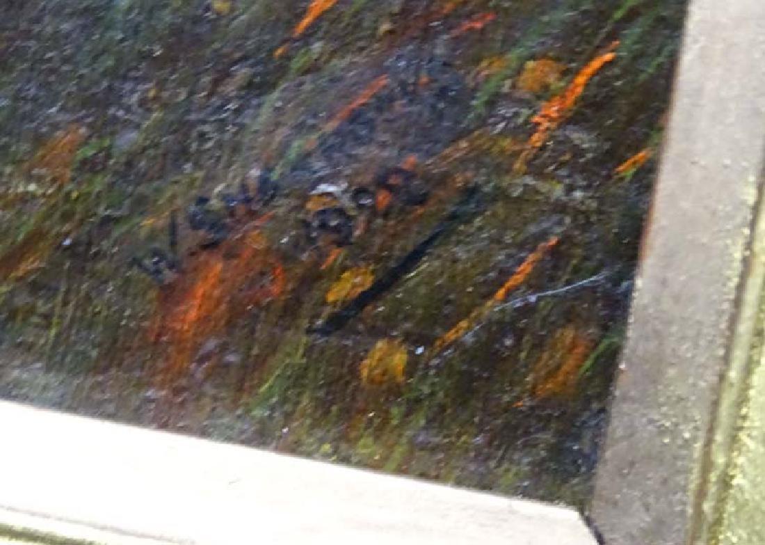 W Sharrocks  1922 Canine School, Oil on canvas board, - 5