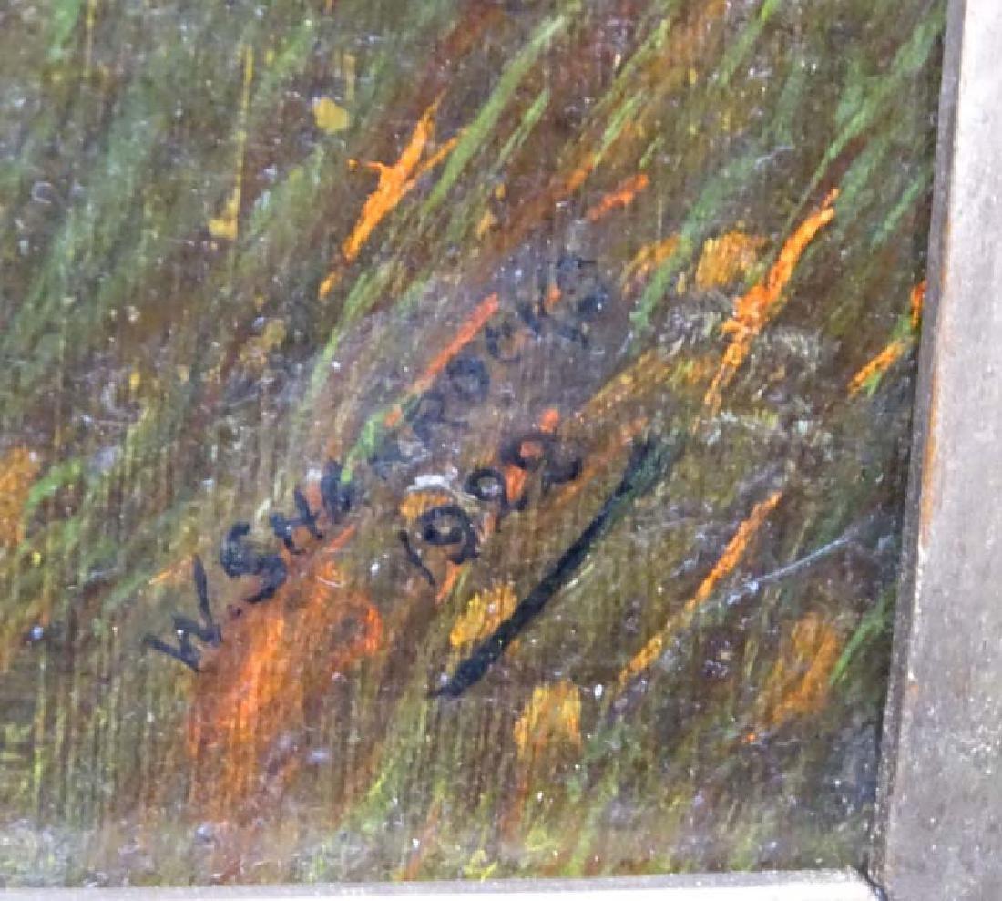 W Sharrocks  1922 Canine School, Oil on canvas board, - 8