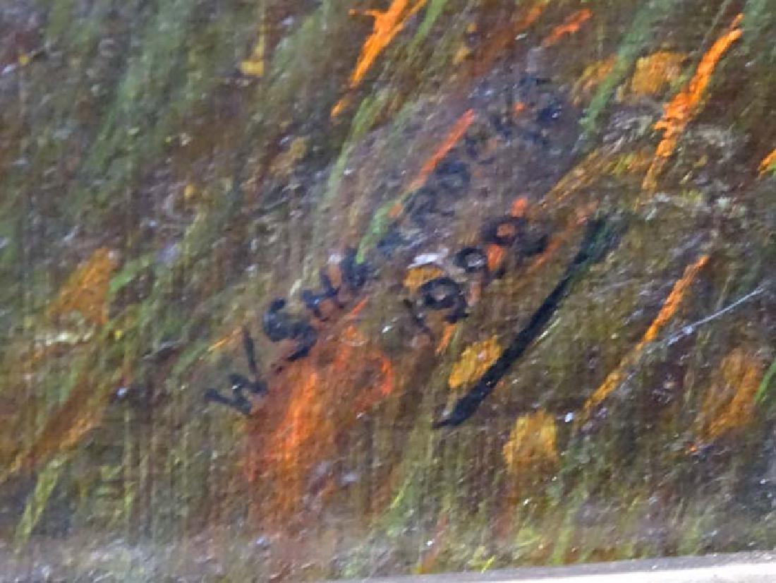 W Sharrocks  1922 Canine School, Oil on canvas board, - 9