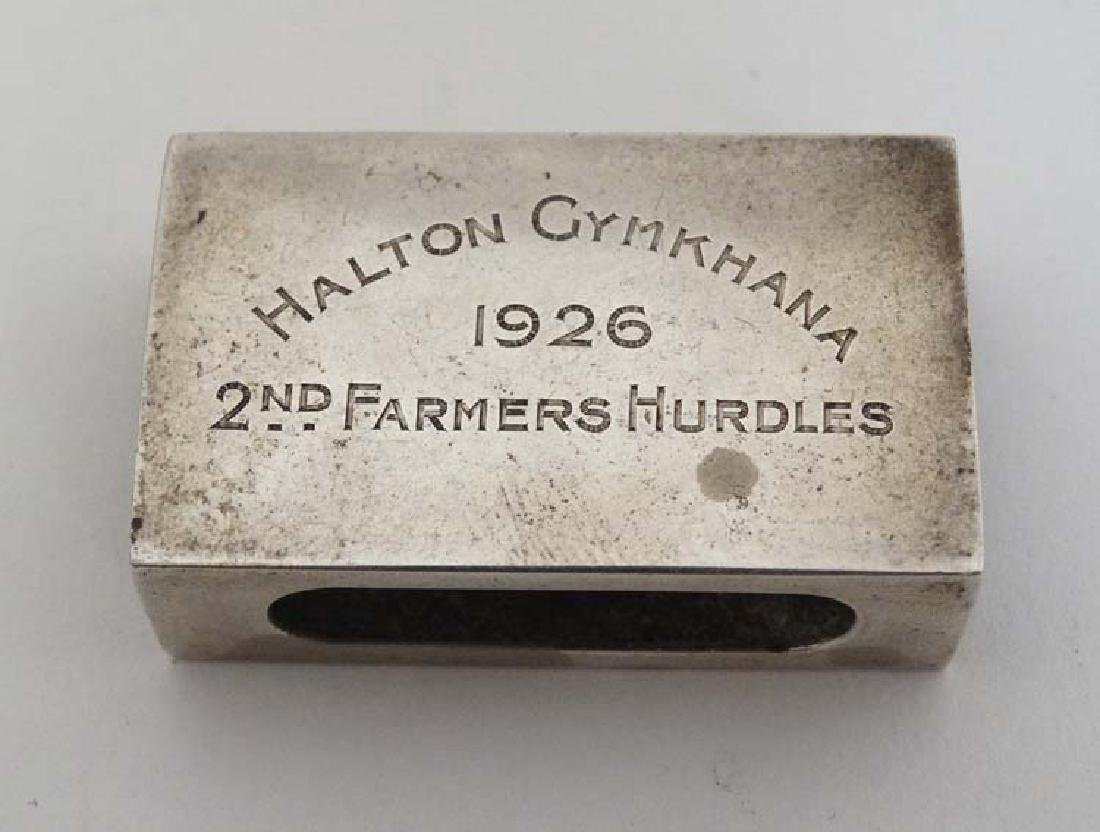A silver table top cigarette box engraved ' Whaddon - 6