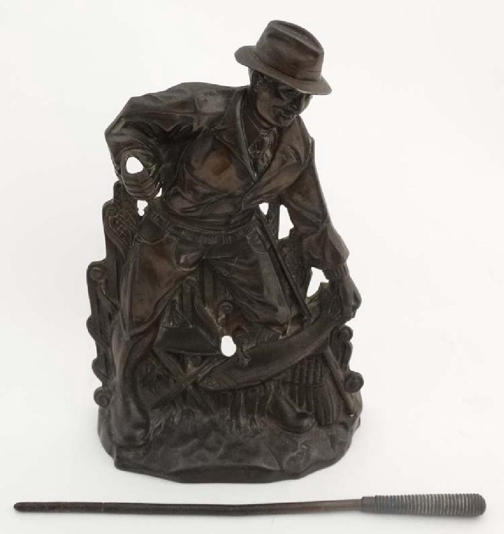 Fishing: A cast bronze relief fireside poker in the - 4